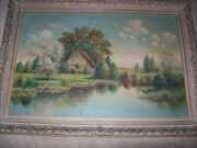 Oil On Canvas Signed Wallace D. Macbeth 36 X 24