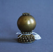 Large And Perfect Antique Chinese Peking Glass Hat Finial Button Qing Dynasty