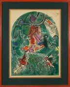 Marc Chagall French Russian ,1887-1985 Original Hand Color Lithograph Print