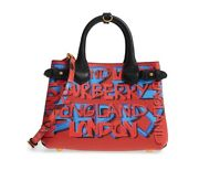 Womenand039s Small Banner In Graffiti Print Leather Tote Multi Msrp 1690