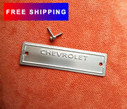 1953 -1963 Chevrolet Data Plate Id Tag With 1/8 Holes And 2 Screws Polished