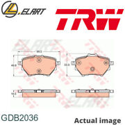 Disc Brake Pads Set For Citroen Peugeot Peugeot Df Psa 5fs 5fv 9hp Trw