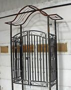 Donovan Arch Top Arbor Gate - Handmade Entrance Structure - Can Customize