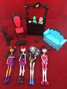 Mattel Monster High Doll Lot Plus Furniture And Accessories