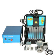 Nzl 110v 600w 4 Axis 3020 Cnc Router Engraving Drilling Milling Machine Usb Port