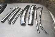 67 68 Galaxie Convertible Windshield Moldings Nice Quality Complete Set