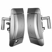Pair Outside Outer Exterior Silver Door Handle Fits 03-09 Nissan 350z Left Right
