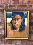 Taos Six Society Of Artists Post Impressionist Portrait Painting By Rod Goebel
