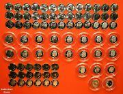 2000 - 2021 Pdss +s Roosevelt Dime 90 Coin Bu Set Wall Clad And Silver Proof + Enh
