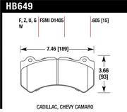 Hawk For 08-12 Cadillac Cts-v / For 12 Jeep Grand Cherokee Wk2 Srt8 Dtc-60 Fro