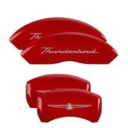 Mgp 4 Caliper Covers Engrvd Front No Bolts/tbird Engrvd Rear/tbird Emblem Red Fn