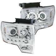 Anzo For 2009-2014 Ford For F-150 Projector Headlights W/ Halo Chrome Ccfl G2