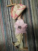 Vintage Marionette Mexican Puppet With Sombrero And Pistol