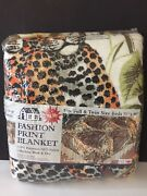 Vintage Loving Leopards Fashion Print Blanket 72 X 90 Full Or Twin Size Beds Usa