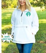 Personalized Charles River Rain Pullover - Monogrammed Charles River Pack N Go