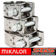Mikalor W4 Stainless Steel Hose Clamps - Supra - Exhaust - T Bolt