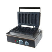 Nzl Commercial Electric Muffin Hot Dog Waffle Machine 110v Breadfast Making New