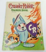 Crusader Rabbit Children Coloring Book Authorized Whitman 1959 Uncolored, Rare