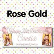 Personalised Photo Party Banners Birthday Decor Welcome Home Banner Packs A022