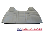 98 -03 Ford F250f350 V8 Gas Work Truck Bench Lean Back Seat Cover Vinyl Gray
