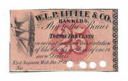 1862 W.l.p Little And Co. Bankers, East Saginaw, Mi - 25 Cent Note - L224, B-3