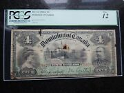 1900 Dominion Of Canada Four 4 Dollars Dc-16 Pcgs Certified F-12 A 070670