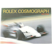 Vintage Rolex Cosmograph Daytona English Booklet 596.16 Usa-20-3.1990