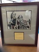 Abbott And Costello Autographs W/coa Archival Framed Free Shipping