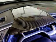 3d Glossy Real Twill Carbon Fiber Dash Cowl Cover For 16-19 Civic Fc Fk Lhd Only