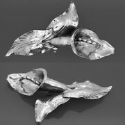 Rare Peer Smed Signed Sterling Silver Cala Lily Flower Hand Wrought Pin Brooch