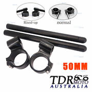 Motorcycle Racing Cnc Higher Raised 50mm Clip On Ons Clipon Fork Handle Bar 50mm