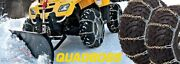2003-2006 Can-am Rally 200 - Rear Snow Chains 2 Chains - Tire Size 22x10x10