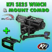 Kfi 2500 Lb. Stealth Winch Mount Kit And03908-and03919 Polaris Ranger Rzr 570 / 800 4