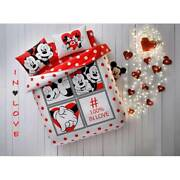 Duvet Quilt Cover Bedding Set Disney Mickey Minnie Mouse Twin Queen Full Sets