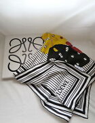 Loewe Stripes Silk Scarf For Puzzle Wool Cashmere Jacket Coat Sweater Gate Bag