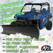 New Kfi 60 Pro Poly Snow Plow And Mount - 2004-2006 Polaris Ranger Tm 650 Utv