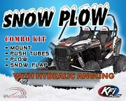 Kfi 72 Hydraulic Angle Steel Plow Kit For 2004-2006 Polaris Ranger Tm 650 Utv