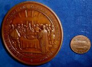 France 1859 Ae 68.5mm Medal Honoring 300th Anniversary Of Protestantism