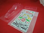 Tamiya Frog Body + Wing / Decals Clear Lexan Stickers Unpainted New