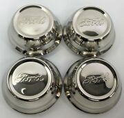 Set Of 4 Stainless Steel Center Hubcaps For 1928-29 Ford Model A Script