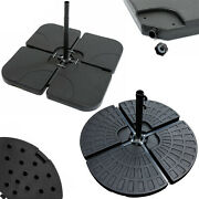 4pc Outdoor Cantilever Umbrella Parasol Base Stand Weights Sand Water Filled