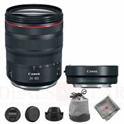 Canon Rf 24-105mm F/4l Is Usm Lens + Mount Adapter Ef-eos R