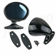 2x Black Shell Look Vintage Car Door Side View Wing Mirror Universal Blue Glass