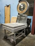 Antique Industrial Age Toledo Large Dial Scale W Cart 200 Lbs Pick Up Houston Tx