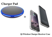 Qi Wireless Charger Receiver Case For Iphone Charging Transmitter Pad Cover