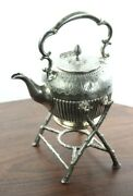 Vintage Cooper Brothers Silver Plated Epns Spirit Kettle With Stand [pl4946]