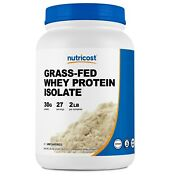 Nutricost Grass-fed Whey Protein Isolate Unflavored 2lbs
