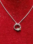 New Welsh Clogau Sterling Silver Origin White Topaz Pendant 18 Chain Rrp Andpound89