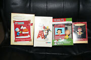 Lot 4 Hallmark Peanuts Snoopy Lucy Charlie Brown Woodstock Christmas Ornaments
