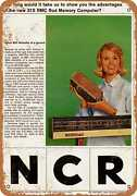 Metal Sign - 1964 Ncr 315 Rmc Rod Memory Computer - Vintage Look Reproduction